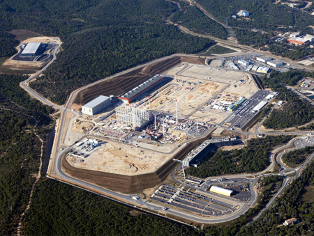 Nuclear fusion reactor (picture during construction)